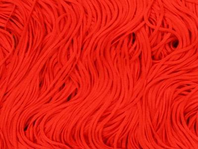 TACTEL STRETCH FRINGE 30CM FLUO RED