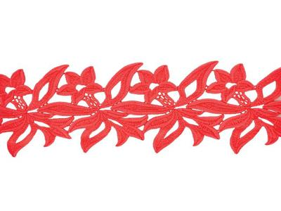 [당일발송]GEORGINA GUIPURE RIBBON FLOURESCENT RED