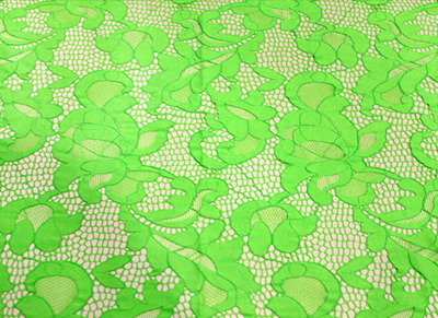 [당일발송]GEOMETRIC STRETCH LACE FLUO GREEN