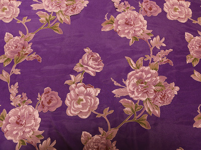 MARCY PRINT ON ORGANZA PURPLE