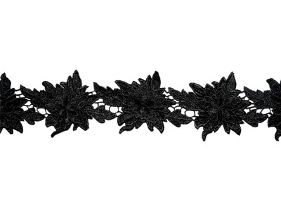 JULIET CROCHET RIBBON BLACK