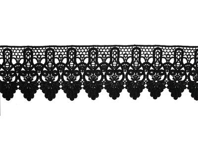 YASMIN CROCHET RIBBON BLACK