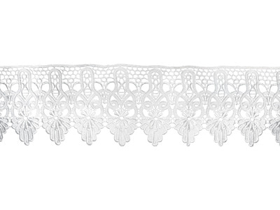 YASMIN CROCHET RIBBON WHITE