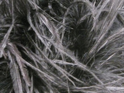 [당일발송]OSTRICH FEATHER FRINGE HEMATITE