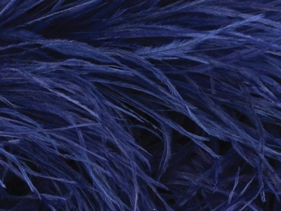 [당일발송]OSTRICH FEATHER FRINGE MIDNIGHT SKY