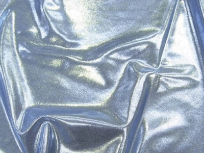 METALLIC DOT SHINE LYCRA SIL ON LT BLUE