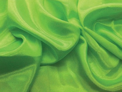 SATIN CHIFFON FLOURESCENT GREEN