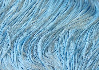 TACTEL STRETCH FRINGE 15CM ICE BLUE